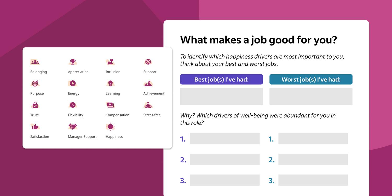 Best and worst jobs worksheet