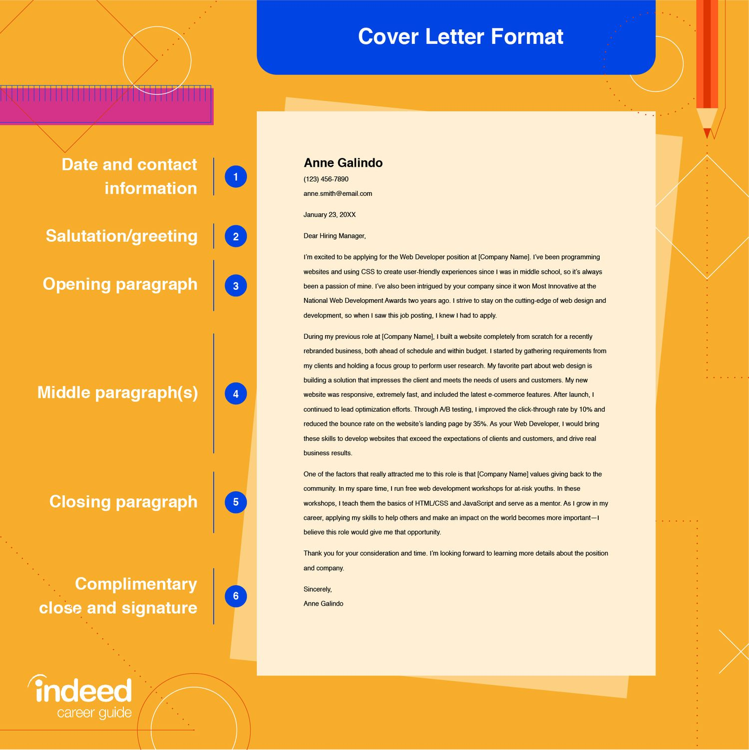 How To Format A Cover Letter With Tips And Examples Indeed Com